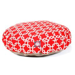 Red Links Small Round Pet Bed