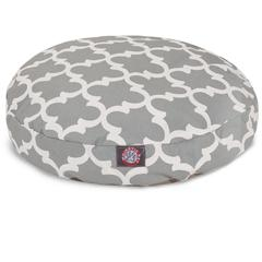 Majestic Gray Trellis Small Round Pet Bed