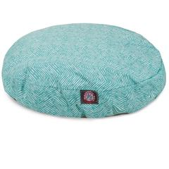 Majestic Teal Navajo Small Round Pet Bed