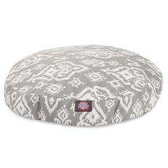 Gray Raja Small Round Pet Bed
