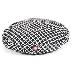 Majestic Black Bamboo Medium Round Pet Bed