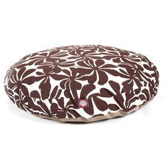 Chocolate Plantation Medium Round Pet Bed