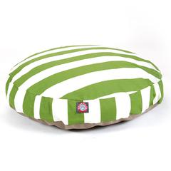 Sage Vertical Stripe Medium Round Pet Bed
