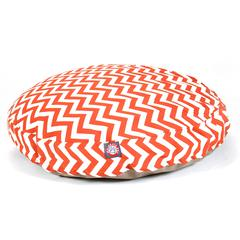 Burnt Orange Chevron Medium Round Pet Bed