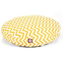 Yellow Chevron Medium Round Pet Bed