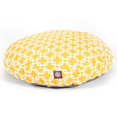 Majestic Yellow Links Medium Round Pet Bed