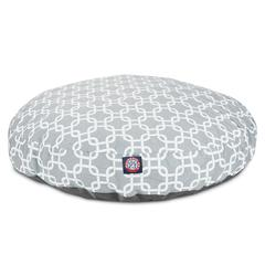Gray Links Medium Round Pet Bed