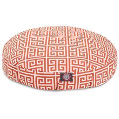 Orange Towers Medium Round Pet Bed