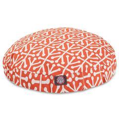 Orange Aruba Medium Round Pet Bed