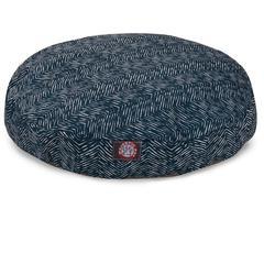 Navy Blue Navajo Medium Round Pet Bed