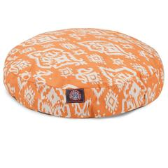 Peach Raja Medium Round Pet Bed