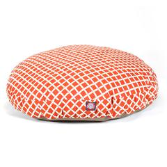 Majestic Burnt Orange Bamboo Large Round Pet Bed