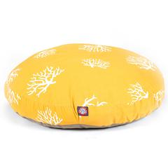 Majestic Yellow Coral Large Round Pet Bed