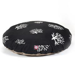 Majestic Black Coral Large Round Pet Bed