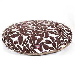 Chocolate Plantation Large Round Pet Bed