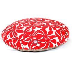 Majestic Red Plantation Large Round Pet Bed