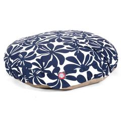 Navy Blue Plantation Large Round Pet Bed