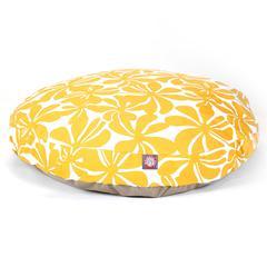 Majestic Yellow Plantation Large Round Pet Bed