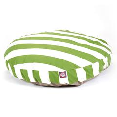 Majestic Sage Vertical Stripe Large Round Pet Bed