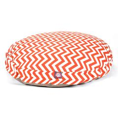 Burnt Orange Chevron Large Round Pet Bed