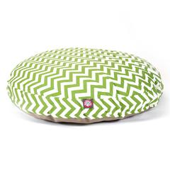Sage Chevron Large Round Pet Bed