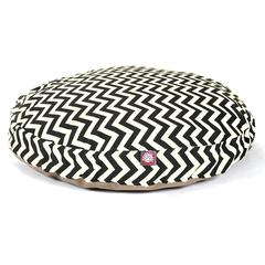 Majestic Black Chevron Large Round Pet Bed