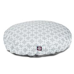 Gray Links Large Round Pet Bed