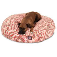 Majestic Orange Towers Large Round Pet Bed