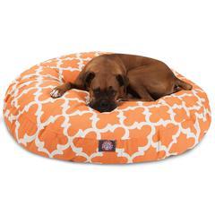Peach Trellis Large Round Pet Bed