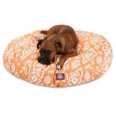 Majestic Peach Raja Large Round Pet Bed