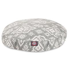 Majestic Gray Raja Large Round Pet Bed