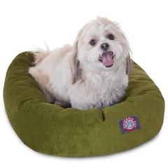 "24"" Fern Villa Collection Micro-Velvet Bagel Bed By Pet Products"
