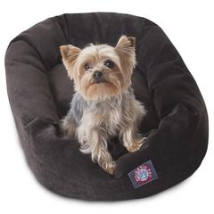 """Majestic 24"""" Storm Villa Collection Micro-Velvet Bagel Bed By Majestic Pet Products"""