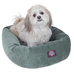"Majestic 24"" Azure Villa Collection Micro-Velvet Bagel Bed By Majestic Pet Products"