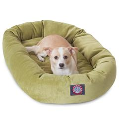 """Majestic 32"""" Apple Villa Collection Micro-Velvet Bagel Bed By Majestic Pet Products"""