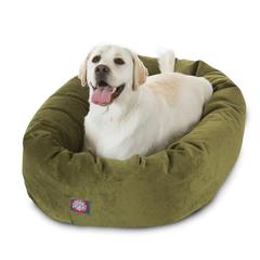 """Majestic 40"""" Fern Villa Collection Micro-Velvet Bagel Bed By Majestic Pet Products"""