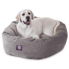 "40"" Vintage Villa Collection Micro-Velvet Bagel Bed By Pet Products"