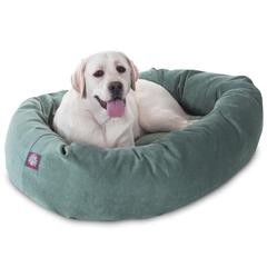 "Majestic 40"" Azure Villa Collection Micro-Velvet Bagel Bed By Majestic Pet Products"