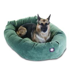 "Majestic 52"" Azure Villa Collection Micro-Velvet Bagel Bed By Majestic Pet Products"