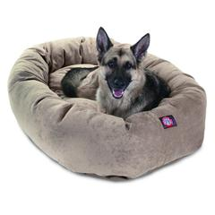 """52"""" Pearl Villa Collection Micro-Velvet Bagel Bed By Pet Products"""