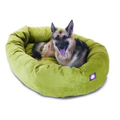"Majestic 52"" Apple Villa Collection Micro-Velvet Bagel Bed By Majestic Pet Products"