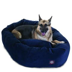 "52"" Navy Villa Collection Micro-Velvet Bagel Bed By Pet Products"