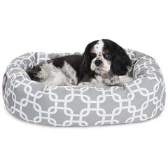 "24"" Grey Links Sherpa Bagel Bed"