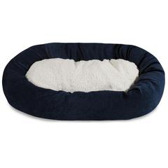 "Majestic 32"" Navy Villa Collection Sherpa Bagel Bed"