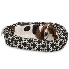 "32"" Black Links Sherpa Bagel Bed"