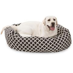 "40"" Black Bamboo Sherpa Bagel Bed"