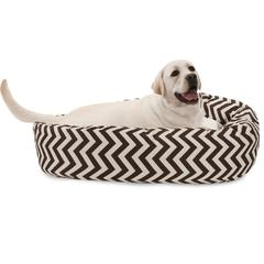 "40"" Chocolate Chevron Sherpa Bagel Bed"