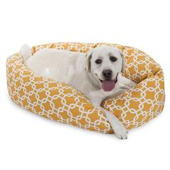 "40"" Yellow Links Sherpa Bagel Bed"
