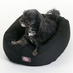 "Majestic 24"" Black Bagel Bed By Majestic Pet Products"