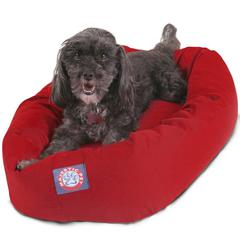 """24"""" Red Bagel Bed By Pet Products"""